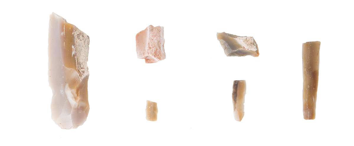 White flint tools, Azzollini Fund , Early Neolithic Age