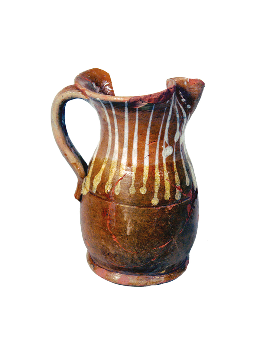 Glazed mug with overpainting in white, Pulo, cistern in front of the I Canopy, 19-20th cent.