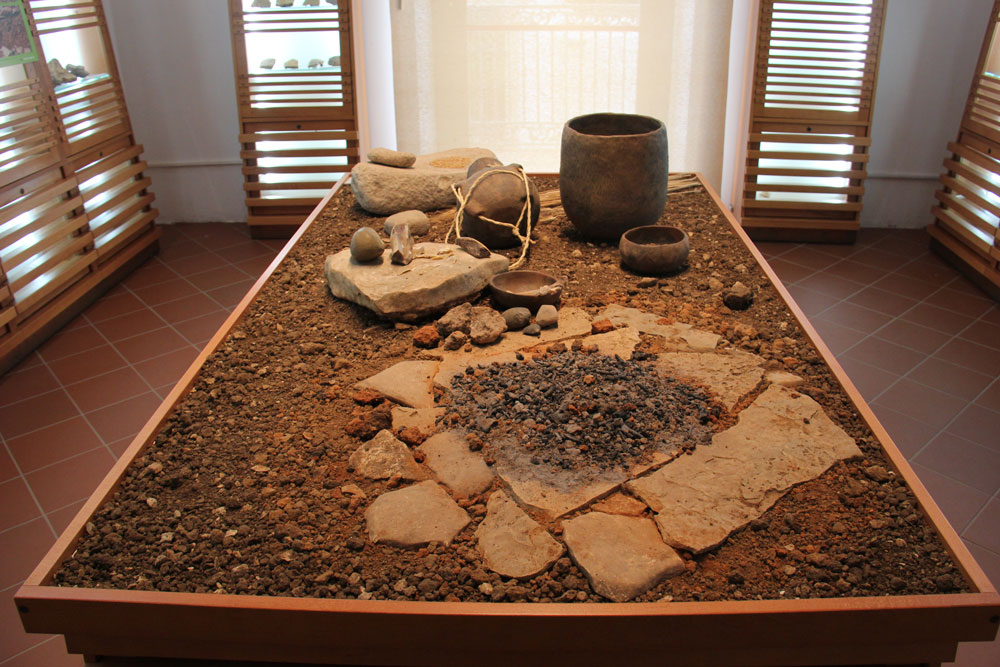 Functional area to the domestic operations of a Neolithic shed (7500 years ago) rebuilt on the basis of archaeological researches in the territory of Lower Murgia of Bari.